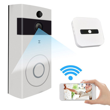 цены Russia Shipping New Wire-free WiFi Video Doorbell With 8G SD Card Rechargeable Night Vision HD Camera for Phone DJA99