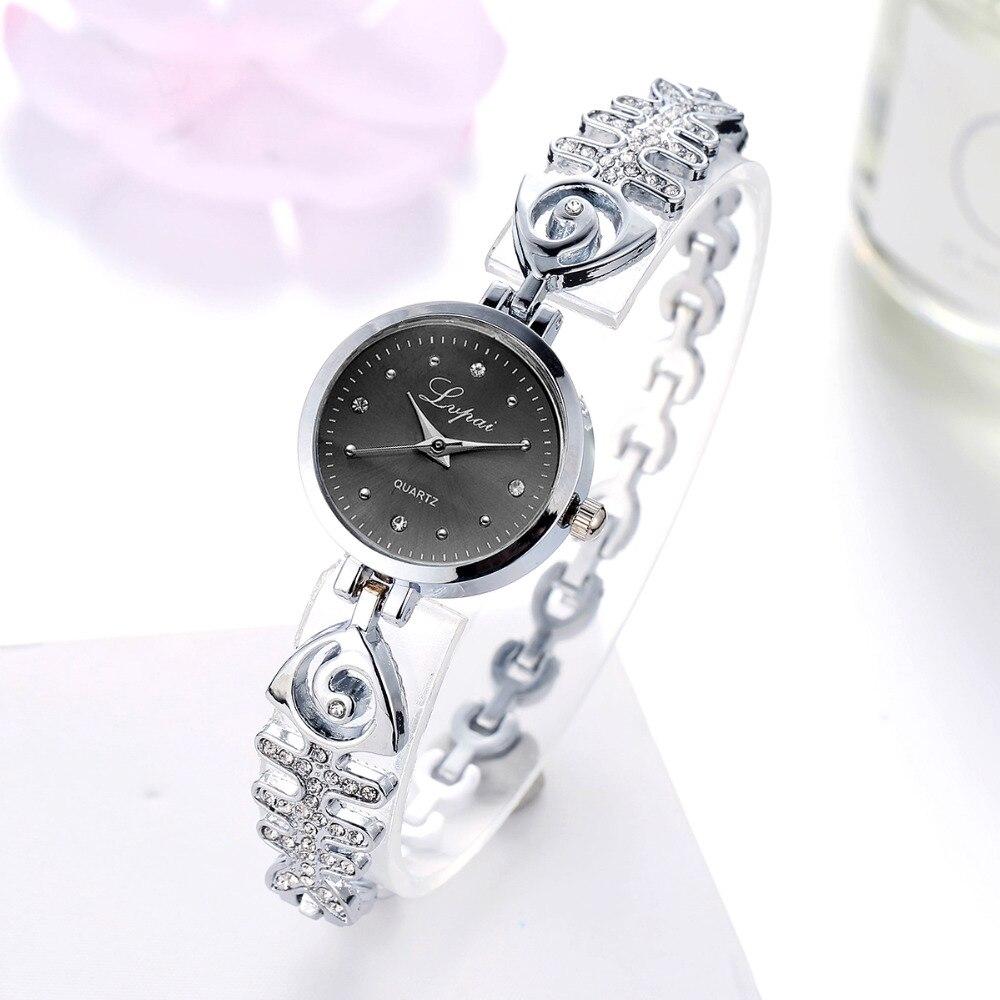 Creative Fishbone Shape Women Watches Luxury Rose Gold LVPAI Bracelet Wristwatch Rhinestone Ladies Watch Women Clock Reloj Mujer
