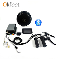 okfeet QS V3 50H 72V 3000W 5000W Motor Bluetooth Programming APP Electric bBicycle Conversion Kit System Color Display