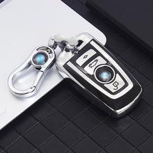 Car Key Case Cover For BMW 520 F10 F30 F18 118i 320i 1 3 5 7 Series X3 F25 X4 M3 M5 Keychain Shell Accessories Auto Styling TPU