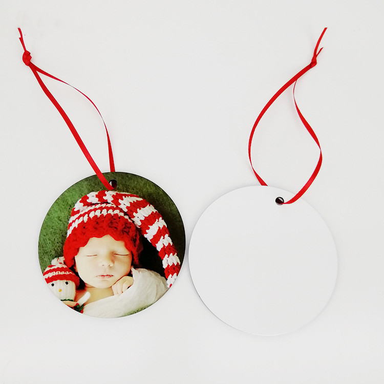 30pcs/sublimation blank heat transfer printing Christmas decoration pendant MDF two-sided printing new DIY gifts 30pcs/lot