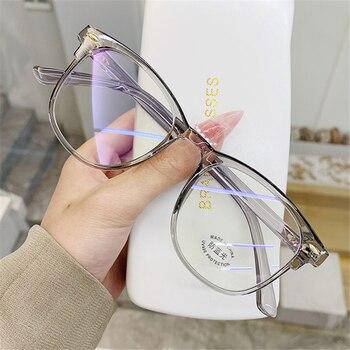 -1.0 1.5 2.0 2.5 3.0 to 6.0 Transparent Finished Myopia Glasses Men Women Black Eyeglasses Prescription Shortsighted Eyewear