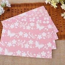 4шт в упаковке бумага конверты поздравление открытка розовый красивый цветок сакура письмо подарок конверт