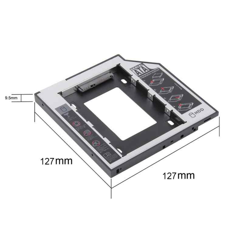 "NEUESTE 2nd HDD Caddy 12,7mm SATA Für 2.5 ""2TB SATA 3,0 SSD Fall Festplatte Gehäuse box + LED Für Laptop CD DV Optibay"