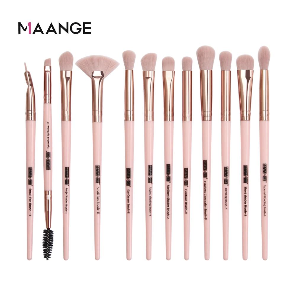 MAANGE Pro 3/5/12 pièces/lot pinceaux de maquillage ensemble ombre à paupières mélange Eyeliner cils sourcils pinceaux pour maquillage nouveau