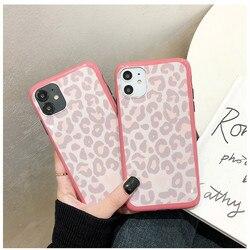 Fundas de teléfono con estampado de leopardo rosa para iphone 11 Pro MAX XR XS Max X 7 8 Plus SE 2020, funda trasera de silicona suave