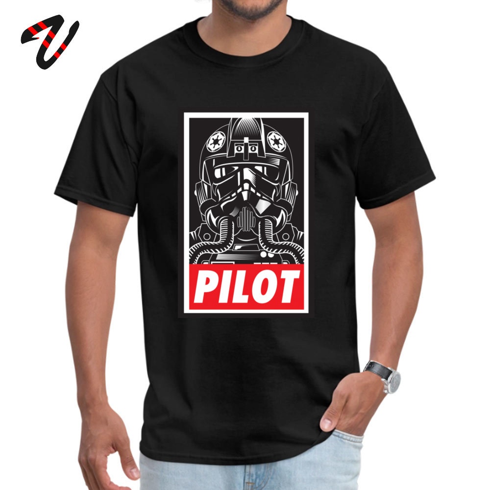PILOT TIE FIGHTER Poster T-Shirt <font><b>Christmas</b></font> <font><b>Star</b></font> <font><b>War</b></font> <font><b>Tshirts</b></font> 100% Cotton Tops T Shirt for Men Party T-shirts Free Shipping image