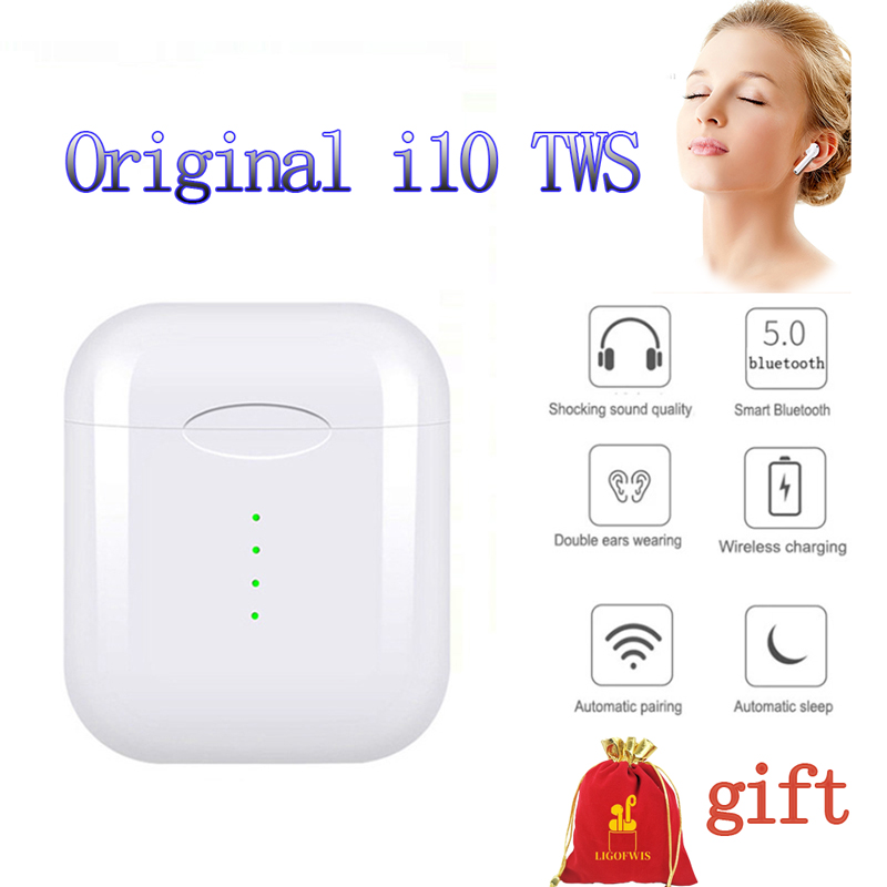 <font><b>Original</b></font> i10 <font><b>TWS</b></font> Mini Wireless Bluetooth touch Earphone With Charging Box for Android ios smartphone PK i7s i60 <font><b>i12</b></font> <font><b>TWS</b></font> image