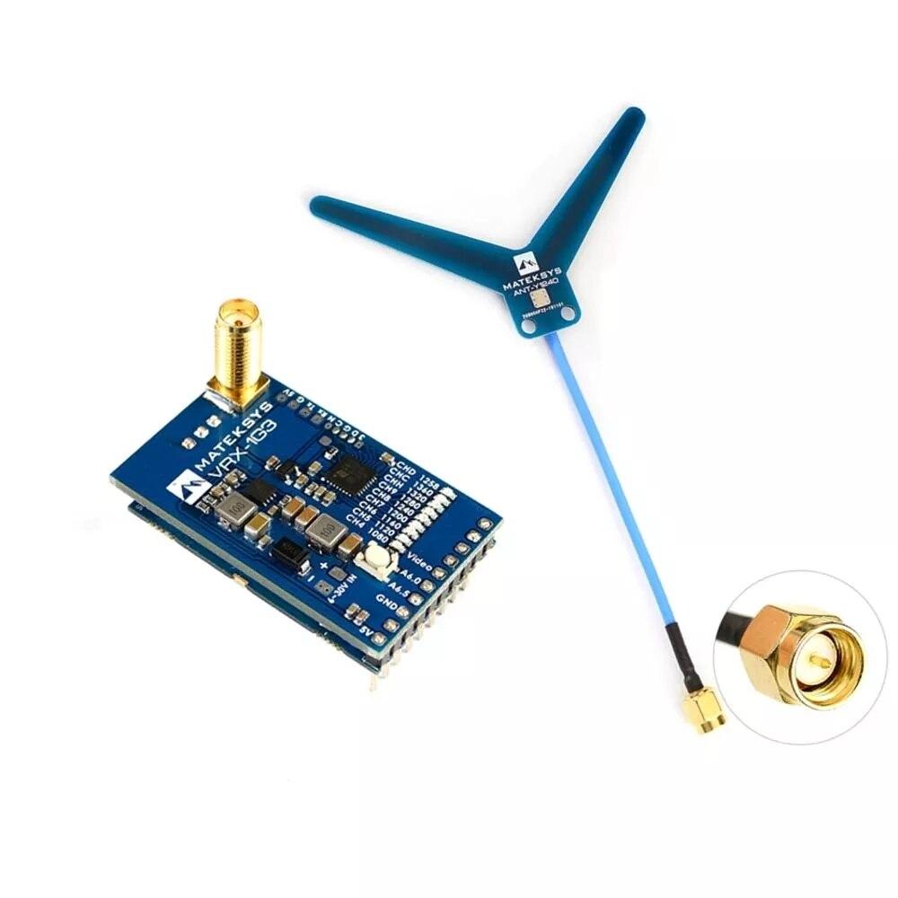 Nouveau style MATEKSYS VRX-1G3 1.2Ghz 1.3Ghz 9CH FPV récepteur vidéo pour moniteur de lunettes de Drone RC