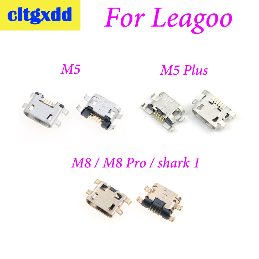 Cltgxdd 2pcs For Leagoo M5 M5 Plus M8 M8 Pro Shark 1 Charging Port Replacement Jack Socket Plug Connector Micro USB Port
