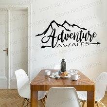 цена на Creative adventure awaits Nursery Wall Stickers Vinyl Art Decals For Bedroom Decoration Vinyl Art Decal adesivo de parede PW464