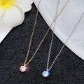 Elegante Rose Gold Farbe Halskette Anhänger für Frauen Hochzeit Jewlery Aussage Halskette