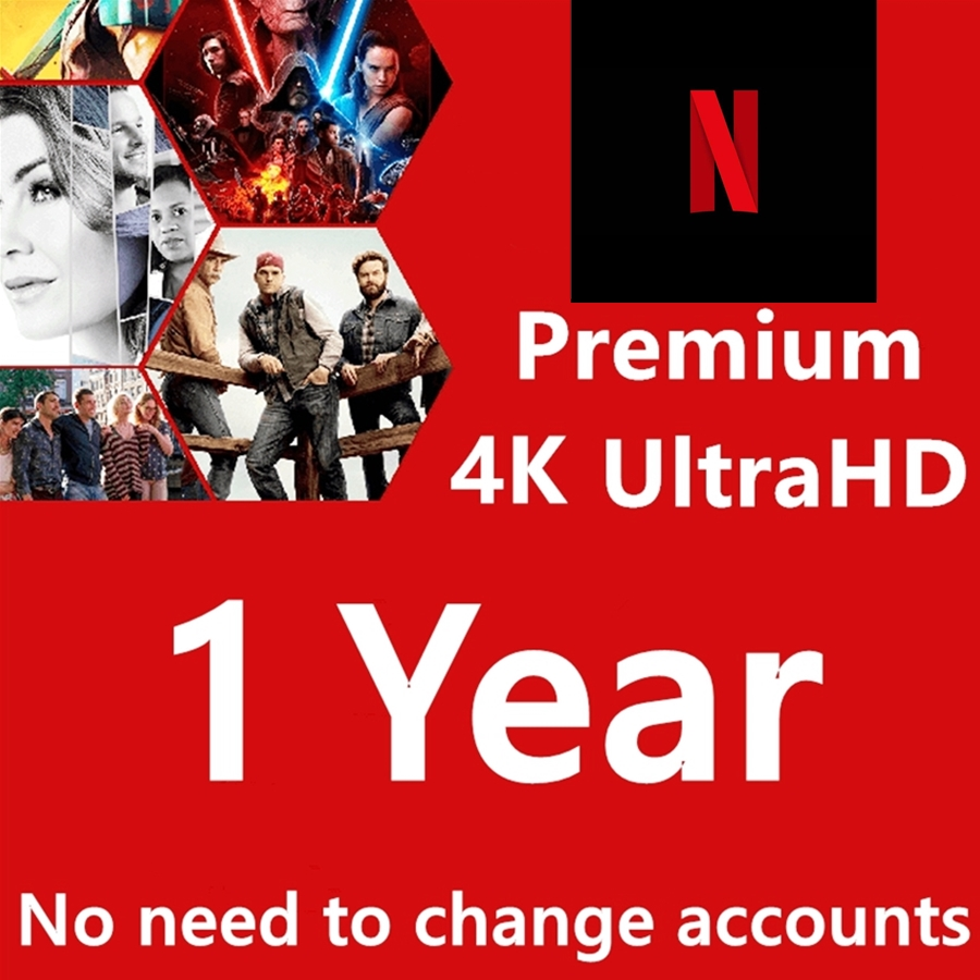 Warranty 1 Year Account Subscription Netflix  Premium Ultra HD Support 5 Screens Android Set Top Box Tv Stick Laptop
