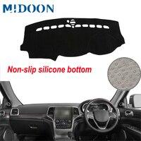 Midoon painel do carro capa traço esteira traço placa almofada tapete dashmat anti-uv para jeep grand cherokee wk2 2011- 2015 2016 2017 2018