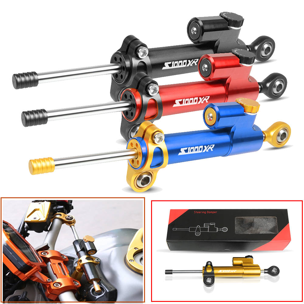 Moto CNC Motorcycle Steering Damper Stabilizer Linear Reversed Safety Control Over For BMW S1000RR S1000XR S1000R S1000 R RR XR in Covers Ornamental Mouldings from Automobiles Motorcycles