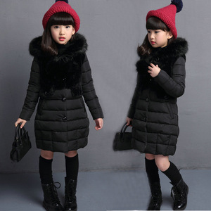 Image 3 - OLEKID 2020 가을 겨울 파카 소녀를위한 따뜻한 롱 모피 걸스 겨울 자켓 4 13 년 십대 겉옷 어린이 Snowsuit