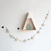 Подвесные Украшения для детской комнаты, детская кровать, навес для детской кроватки, Декор, милая звезда, украшения для дома, струны, Детские фотографии, реквизит, домашний декор