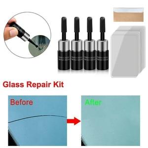 Image 5 - 4 زجاجات أدوات إصلاح زجاج السيارات ، الزجاج الأمامي ، رقاقة الكراك ، سائل إصلاح نانو استعادة