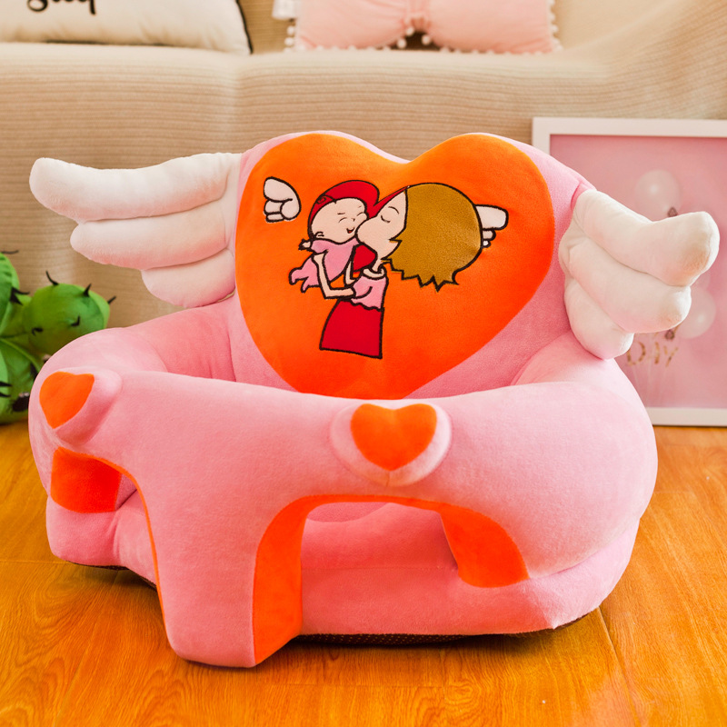 Explosion Model Cartoon Children Sofa Angel Wings Baby Learn Chair Baby Safety Anti-fall Seat Cute Baby Meal Play Seat