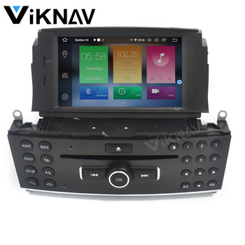 Android Car GPS Radio multimedia player For Mercedes Benz C200 C180 W204 2007-2010 car GPS navigation autoradio stereo image