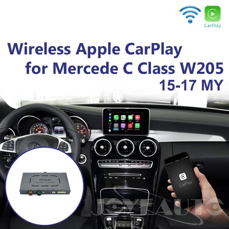Joyeauto Aftermarket Wireless OEM Apple CarPlay Android Auto Mirror Retrofit Mercedes C Class W205 GLC X253 15-19 NTG5 Car Play