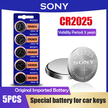 5PCS Sony CR2025 3V Lithium Battery Button Cell Batteries For Watch Car key Remote Control Pedometer DL2025 BR2025 KCR2025 2025