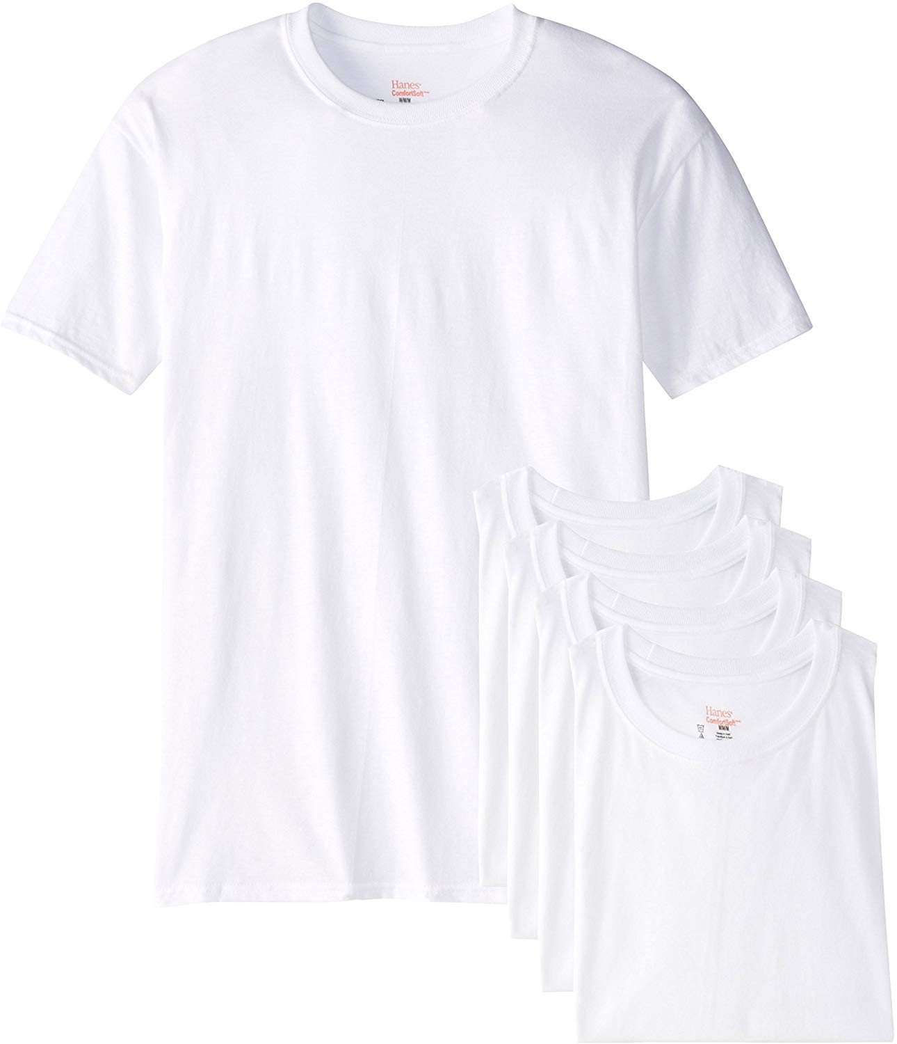 2020 New    Men's 5-Pack FreshIQ Big Crew T-Shirts Short  Casual  Cotton  O-Neck