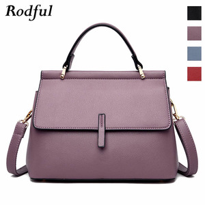 Image 2 - Brand new fashion messenger bag womens leather handbags female shoulder crossbody bags for women purple light blue red black