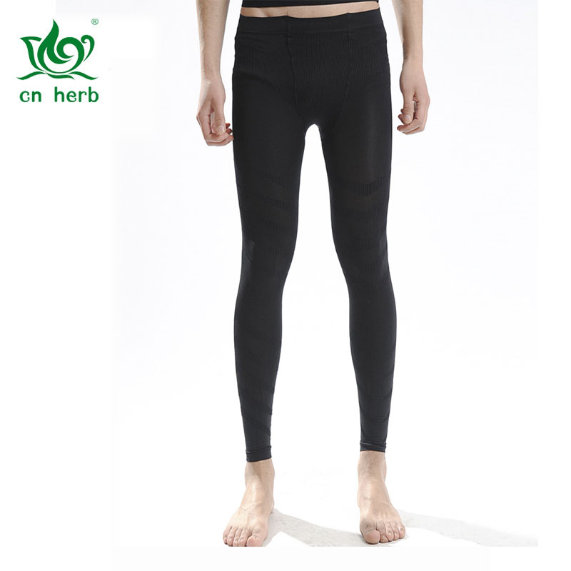 Cn Herb Men Thin and light, tight body tightening  pants, shaping nine pants K62