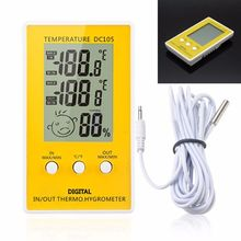 Indoor Outdoor Digital LCD Humidity Thermometer Meter Probe Cable C/F-F1FBDrop ship