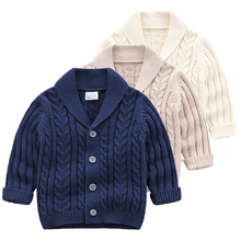 2020 Kids Jacket Handsome Baby Boys Knitting Sweaters Children Clothing Girls Cardigan Baby Spring Autumn Outfit Coat Costumes