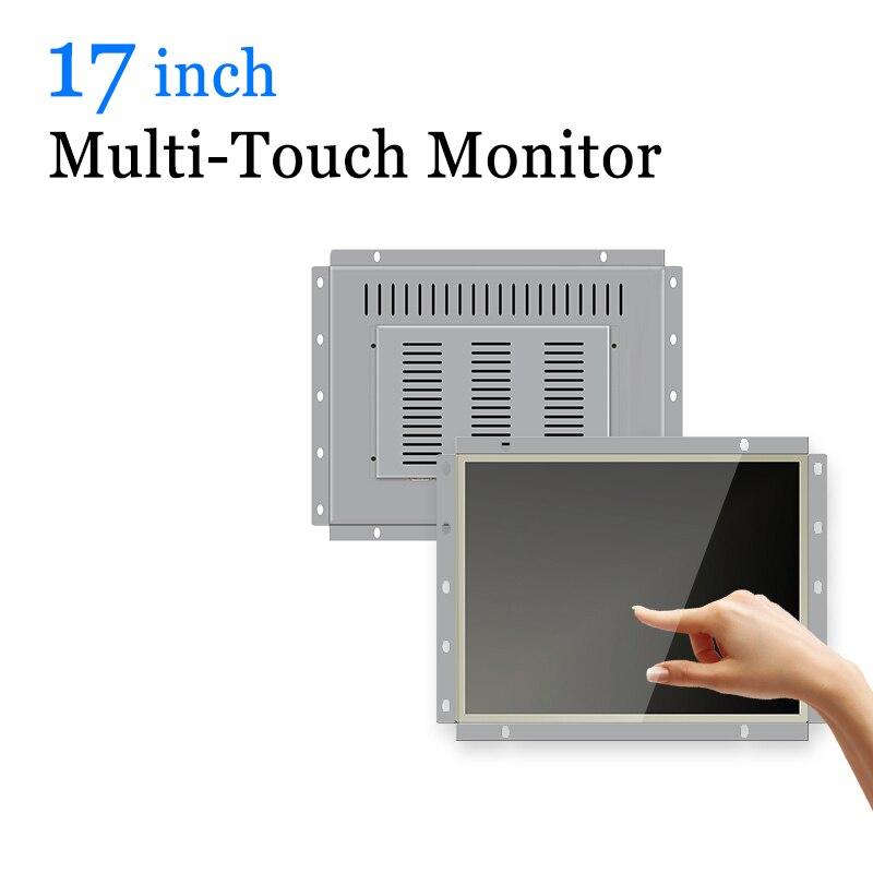 Écran tactile capacitif d'ordinateur industriel de cadre ouvert de moniteur d'écran tactile Multi de 17 pouces