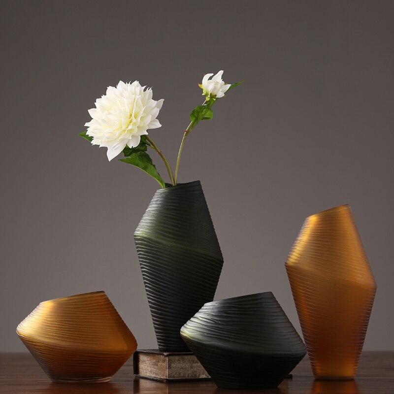 Nordic simplicity glass vase Creative spiral terrarium modelling containers desktop flower Craft Ornaments home deco