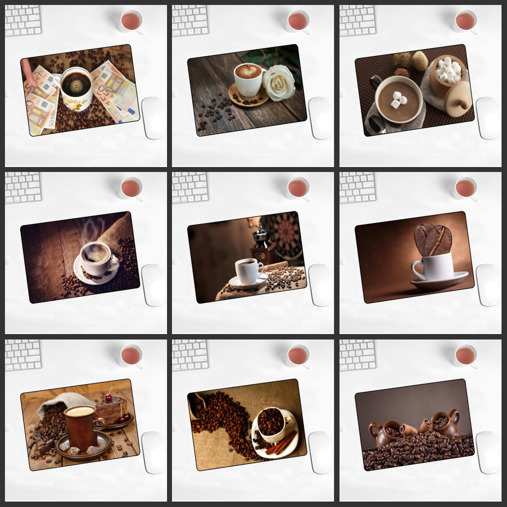 XGZ Promotion Russian New Coffee Picture Table Pad Game Speed Mousemat 180X220X 2mm  Machine Mouse