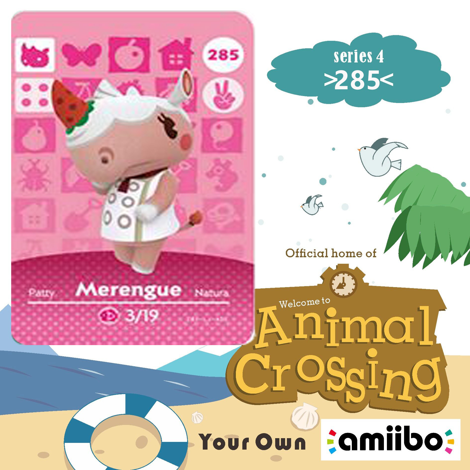 285 Merengue Amiibo Card Animal Crossing Series 3 Merengue Animal Crossing Amiibo Card Work For Ns Games Nfc Card Dropshipping