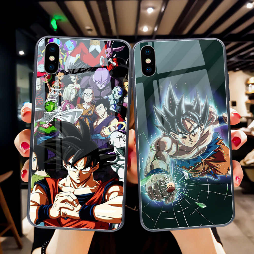 ciciber Dragon Ball Tempered Glass Phone Case for iPhone 11 Pro Max Coque for iPhone X XR XS MAX 7 8 6 6S Plus Funda Coque Shell