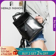 HERALD mode en cuir véritable sac à dos Vintage vache fendu en cuir femmes sac à dos dames sac à bandoulière sac décole pour adolescente