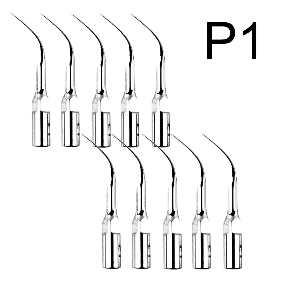 10Pieces P1 Dental Ultrasonic Scaler Scaling Tips Handpiece Fit EMS Woodpecker UDS