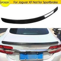 Real fibra de carbono tronco traseiro spoiler lábio asa para jaguar xf (não para sportbrake) tronco traseiro telhado asa spoiler lábio 2009-2015