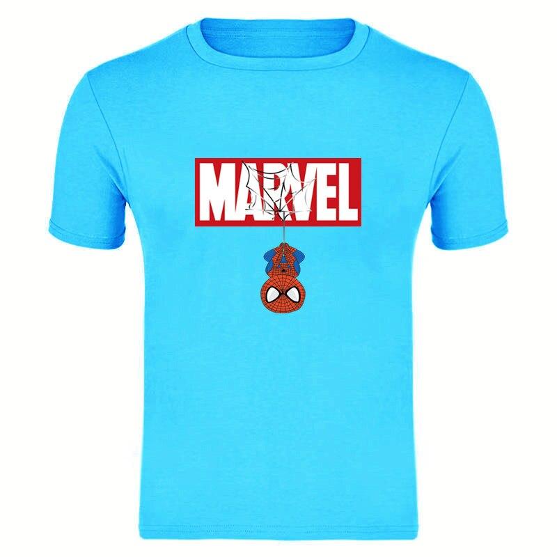 New Summer 3D Iron Spiderman Couple T-shirts Marvel Avengers Men T-Shirt Comfortable Short Sleeve Tee Shirt Tops&Tees