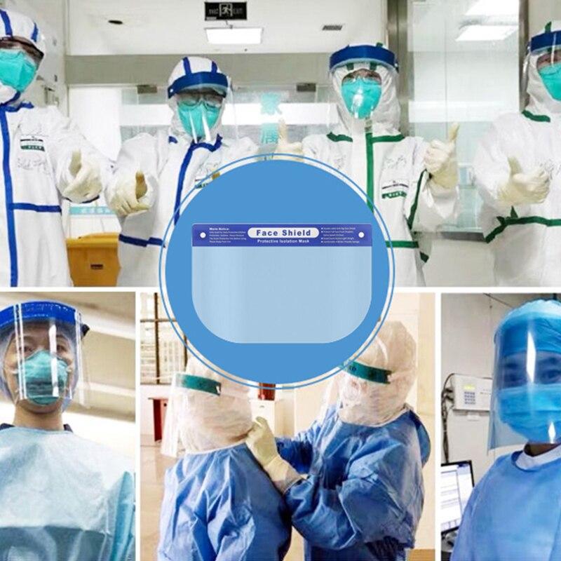 1PC Splash-proof Dust-proof Mask Head-mounted Transparent Mask Adjustable Reusable Elastic Face Mask Home Outdoor Fitness TSLM1 4