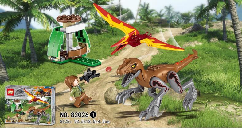 82026 Jurassic Dinosaur World Movie Series Tyrannosaurus Triceratops Pterosaurs Building Blocks Bricks Kids Toys Christmas gift 1