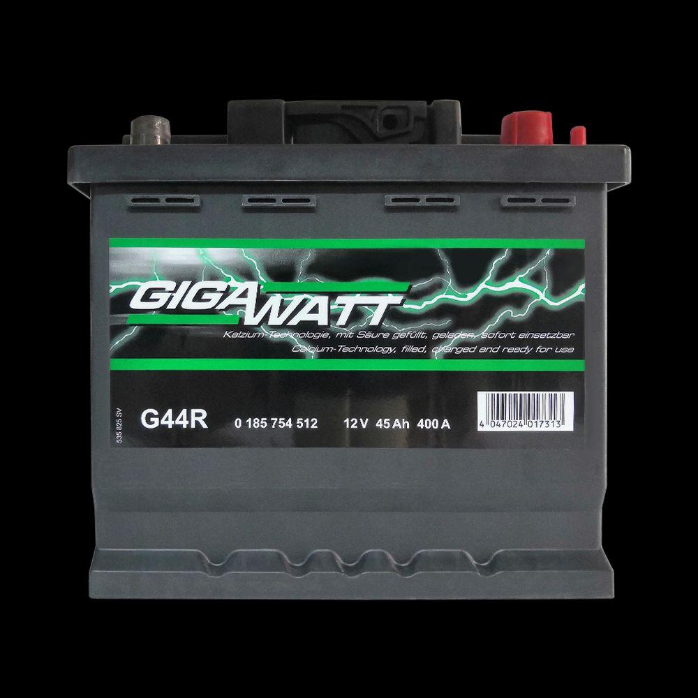 Аккумулятор Gigawatt 12В 45 Ah 400A оп 207х175х190 (0185754512)