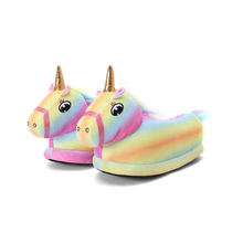 Unicorn Slippers Rainbow-Shoes Indoor Animal Toddler Girl Winter Unisex Child Home