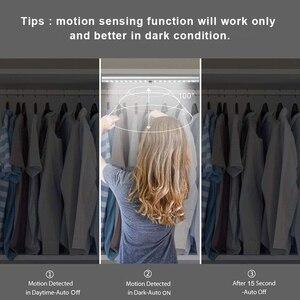 Image 2 - 24 40 60 LED 옷장 조명, USB 충전 가능, 케비닛 조명 아래 스틱온 모션 센서, 자석 스트립이 있는 옷장용 조명