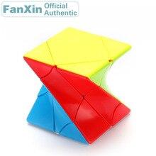купить FanXin Twisted Skewed Magic Cube Skewbcube Torsional Professional Speed Puzzle Twisty Brain Teaser Antistress Educational Toys по цене 492.39 рублей