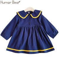 Umorismo Orso Bambini Del Bambino Della Ragazza del Vestito di Autunno della Molla Della Principessa Del Bambino Capretti di Stile Dei Vestiti Dei Bambini vestiti A Maniche Lunghe Abito Giapponese