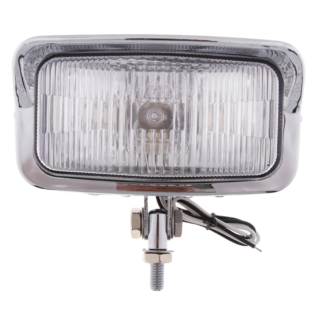 Headlight 12V Universal Motorcycle Assembly Rectangle Head Lamp 55W