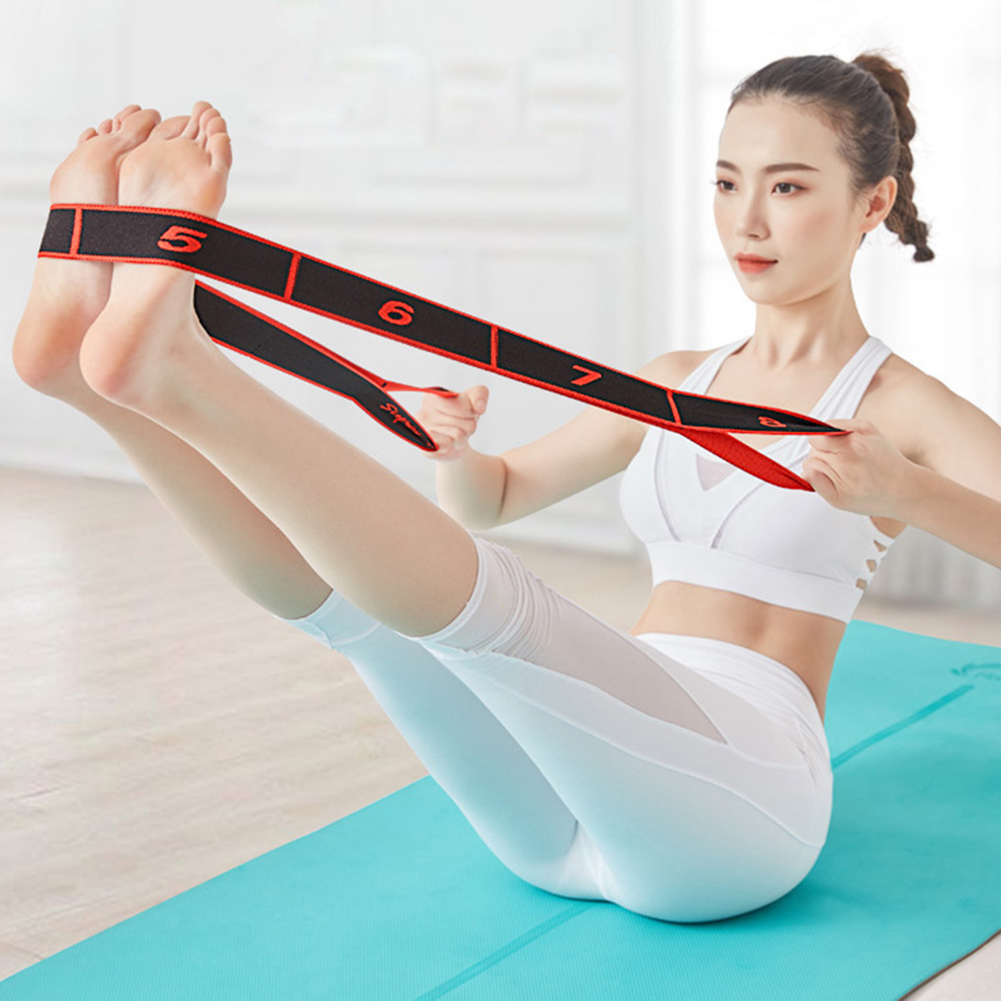 Professional Yoga Stretch Resistance Bands Gymnastics Adult Latin Training Belt Multi-functional Pilates Fitness Elastic Band