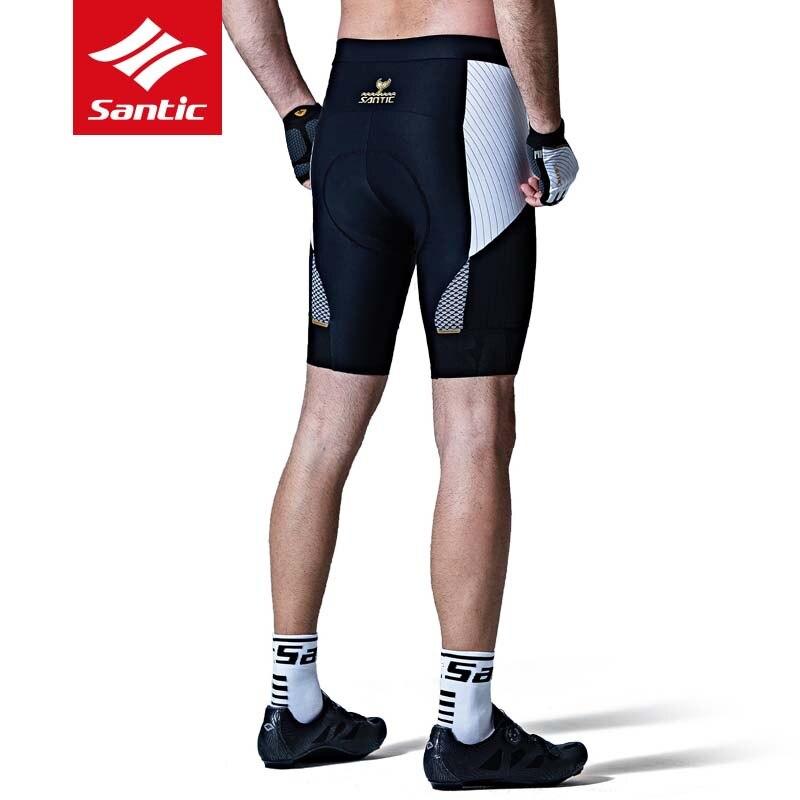 Santic велосипедные шорты весна лето мужские Дышащие анти пот MTB дорожный велосипед шорты 4D Мягкий противоударный гоночный спортивный костюм - 3